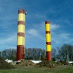 Покраска башни рожновского