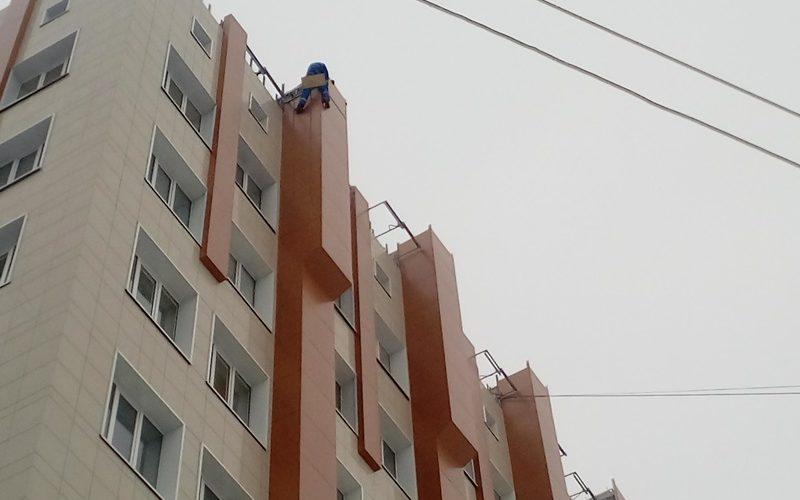 монтаж композитных панелей