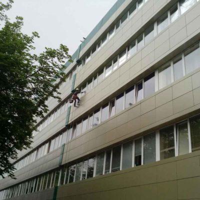 Мытьё фасадов и окон