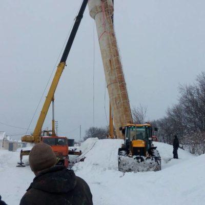 Восстановление водонапорной башни в Белгородской области