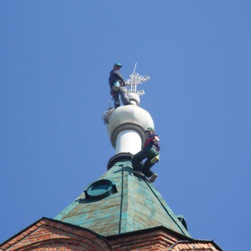 покраска купола