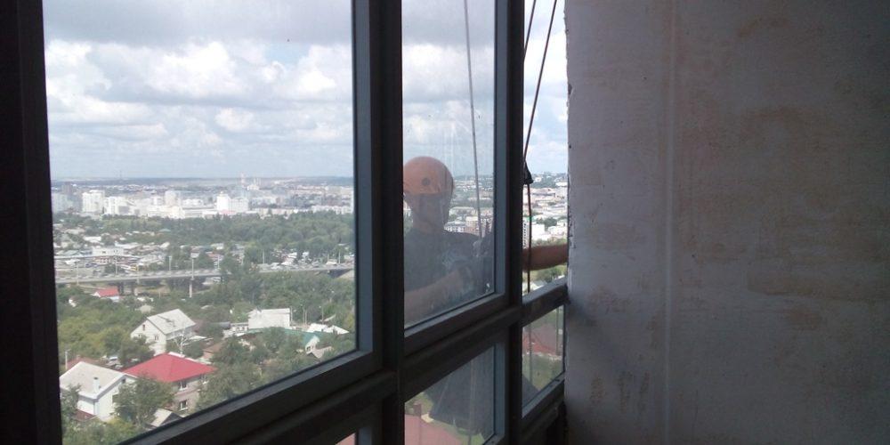 Разбор остекления на высоте Белгород