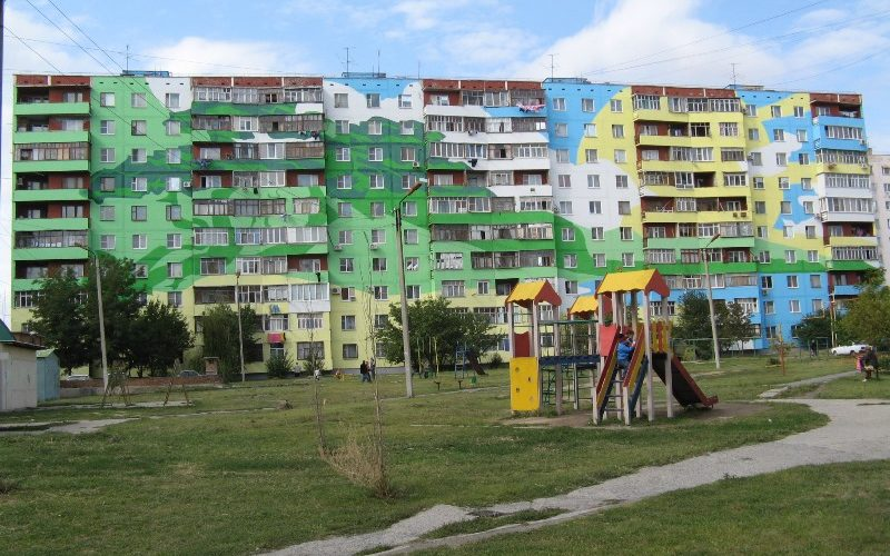 Покраска многоэтажек