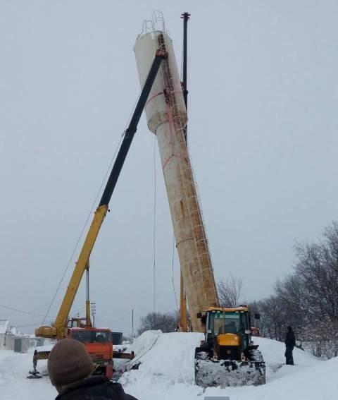 Демонтаж водонапорной башни Белгород
