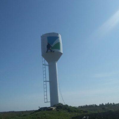 Рисунок на водонапорную башню