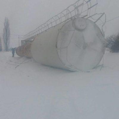 Демонтаж водонапорной башни