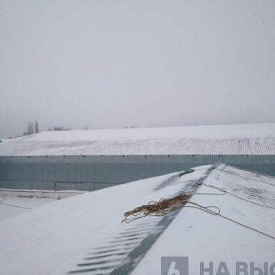 Подготовка к чистке снега с крыш,Белгород.