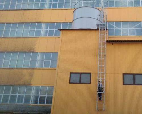 мойка зданий промышленными альпинистами