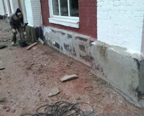 ремонт фасада цоколь