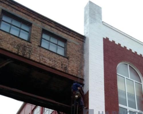 ремонт фасада на высоте