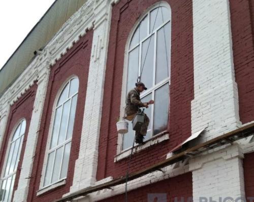 ремонт фасада альпинисты