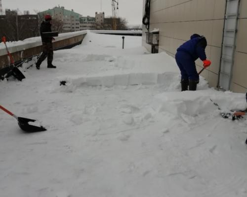 Уборка снега в Белгородской области